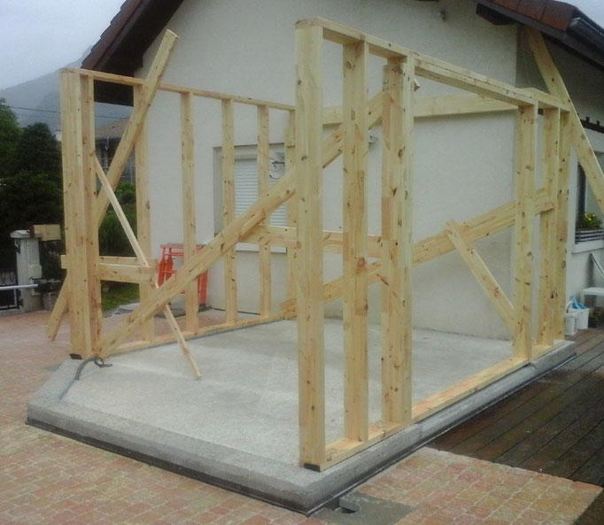 Extension en ossature bois à Bassens