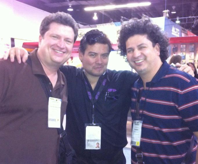 Con Geoff Grace (Tecladista, Michael Jackson) y Salo Loyo (Tecladista, Luis Miguel)