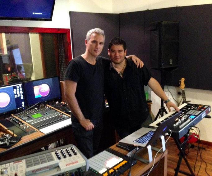 Con mi admirado amigo Mario Siperman, Tecladista de Los Fabulosos Cadillacs