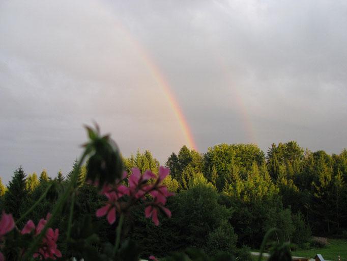 Blick auf einen tollen Regenbogen