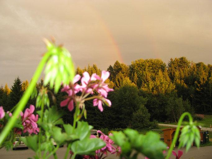 Regenbogen vor dem Haus Spannbauer ****