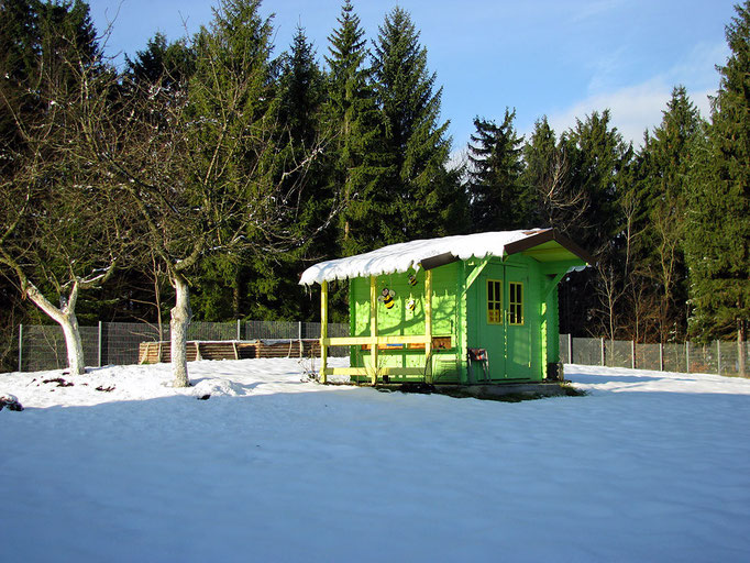 Ferienwohnungen Haus Spannbauer im Winter: Bienenhaus