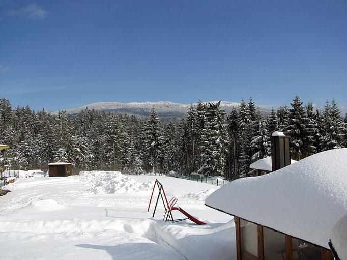 Ferienwohnungen Haus Spannbauer im Winter: Kinderspielplatz