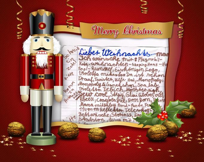 Wunschzettel der Kinder an den Berliner Weihnachtsmann