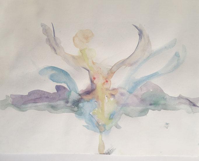 LIGHTNESS - Aquarell  auf Papier 35 x 26 cm, 2019 | Blanka von Rohr | Malerei | Hamburg