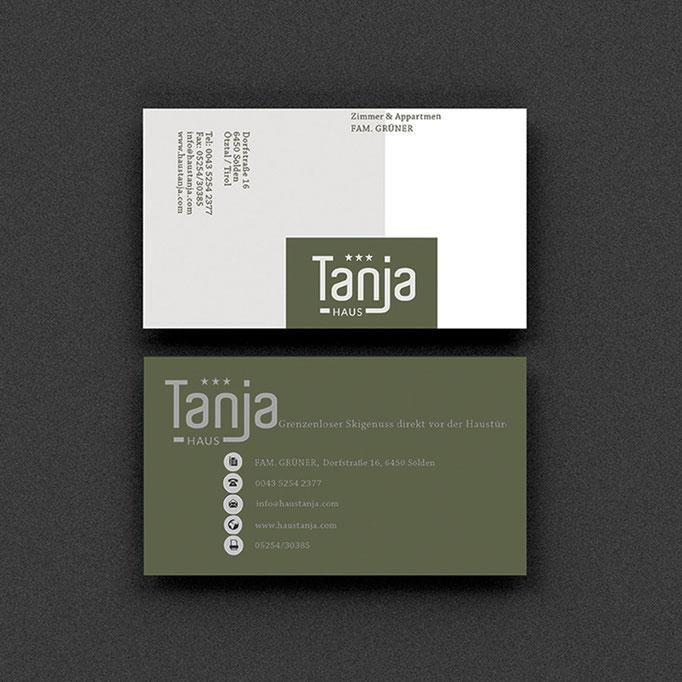 Haus Tanja, Sölden, Visitenkarten