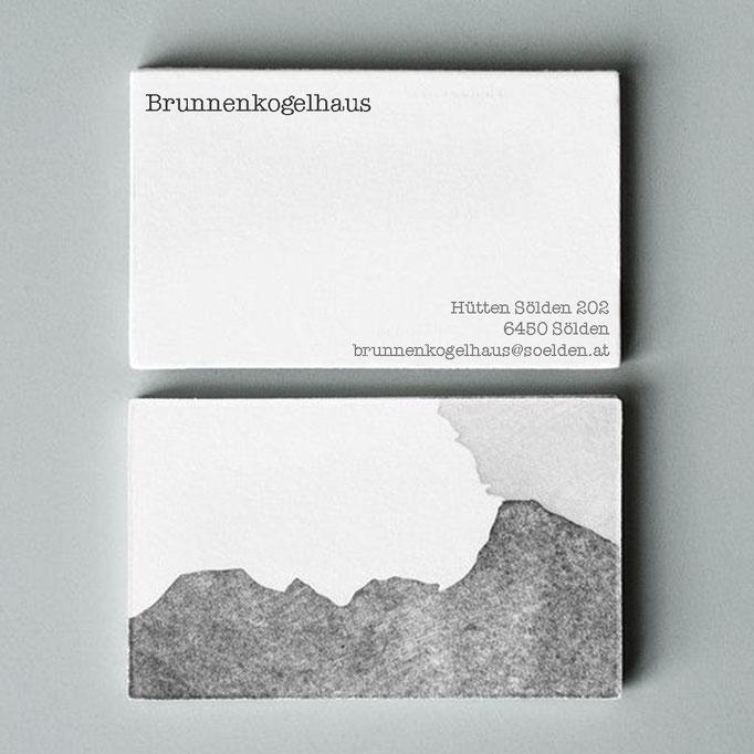 Visitenkarte, Brunnenkogelhaus, Stubaier Alpen