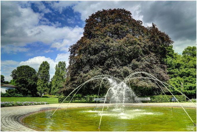 Springbrunnen im Kurpark Lüneburg