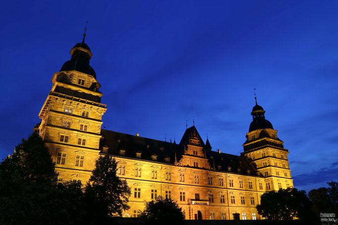 Blaue Stunde am Aschaffenburger Schloss