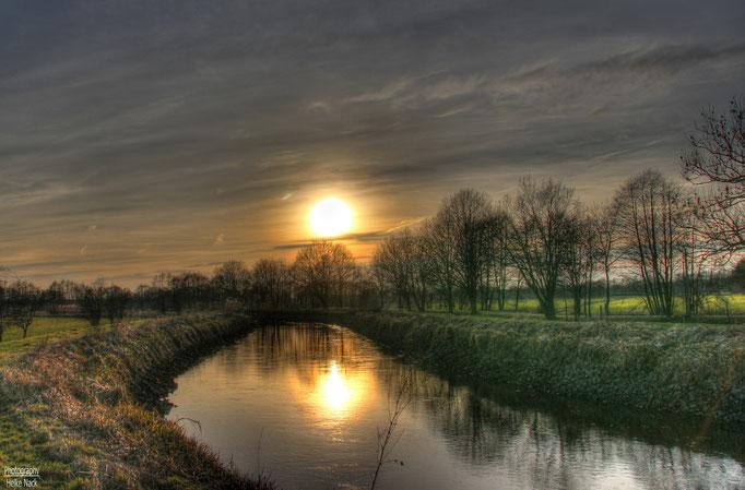 Sonnenuntergang an der Ilmenau