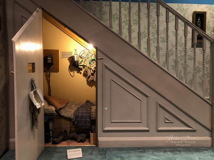 Harry Potters Zimmer unter der Treppe