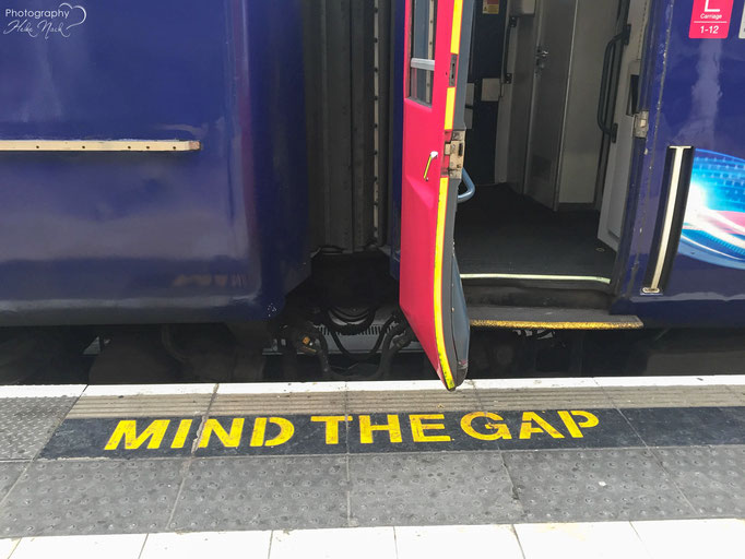 """Mind the gap between the train and the platform"""