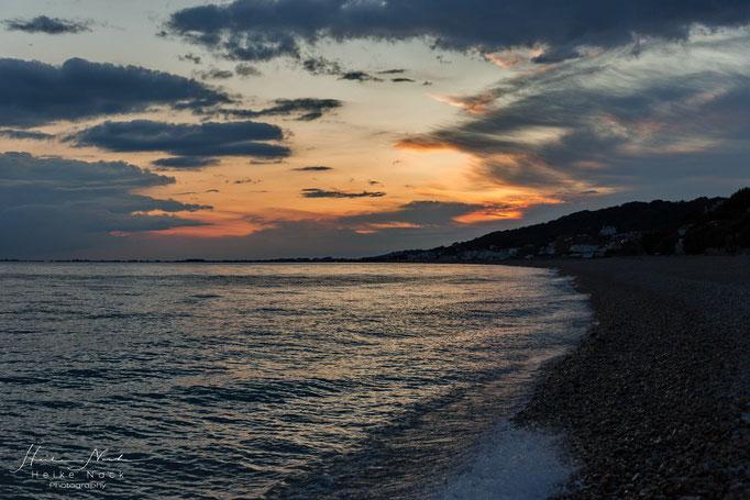 Sonnenuntergang in Folkstone