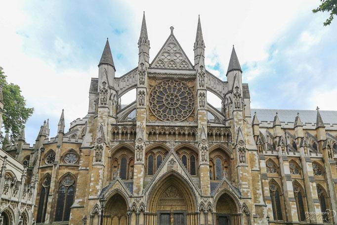 Nördliches Querschiff und Portal der Westminster Abbey