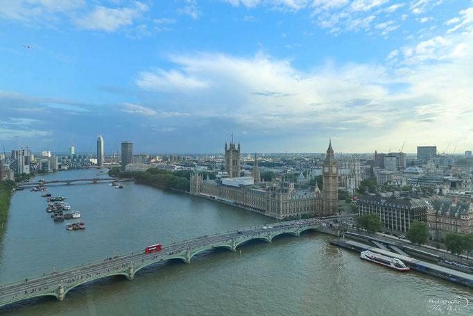 Aus dem London Eye aufgenommen - Blick auf London