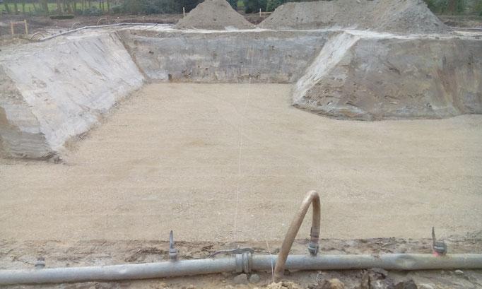 Ausschachtung mit Wasserhaltung