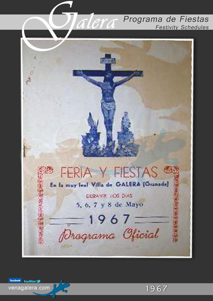 Programa Fiestas de Galera 1967