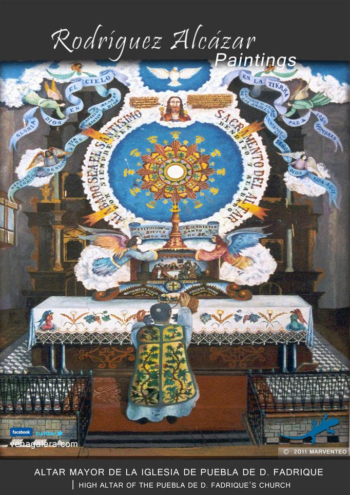 Altar Mayor de la iglesia - Pintor Jesús Rodríguez Alcázar - Puebla de Don Fadrique