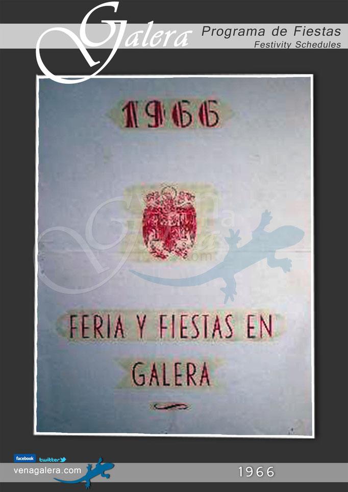 Programa Fiestas de Galera 1966