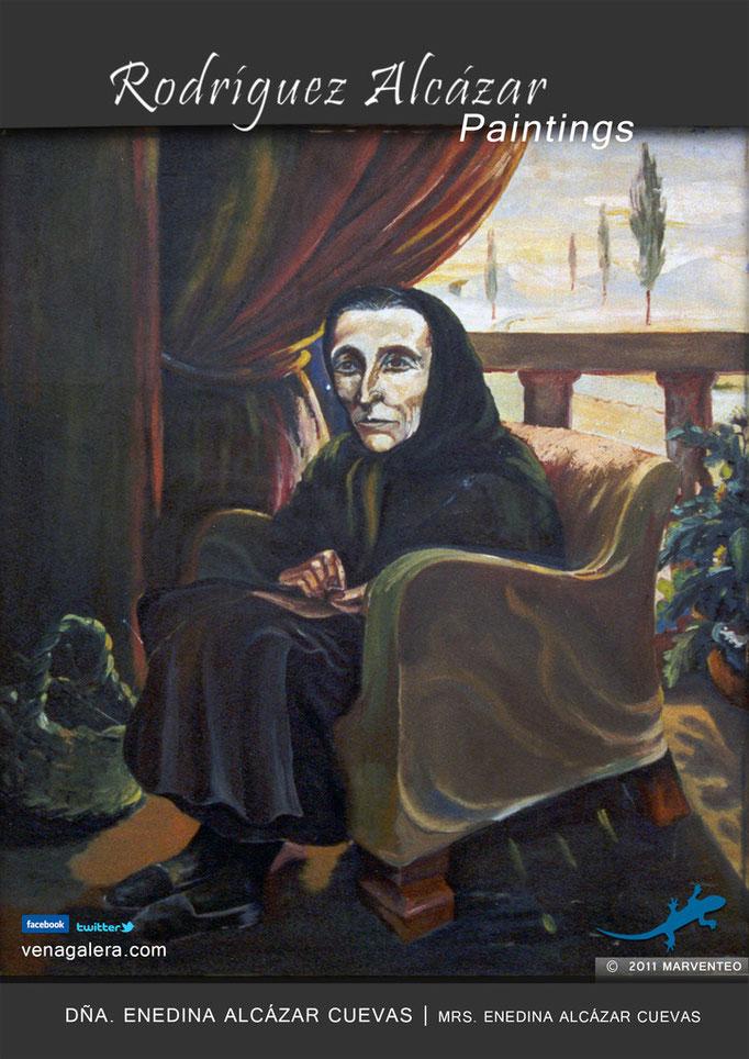 Enedina Alcázar Cuevas - Pintor Jesús Rodríguez Alcázar - Puebla de Don Fadrique