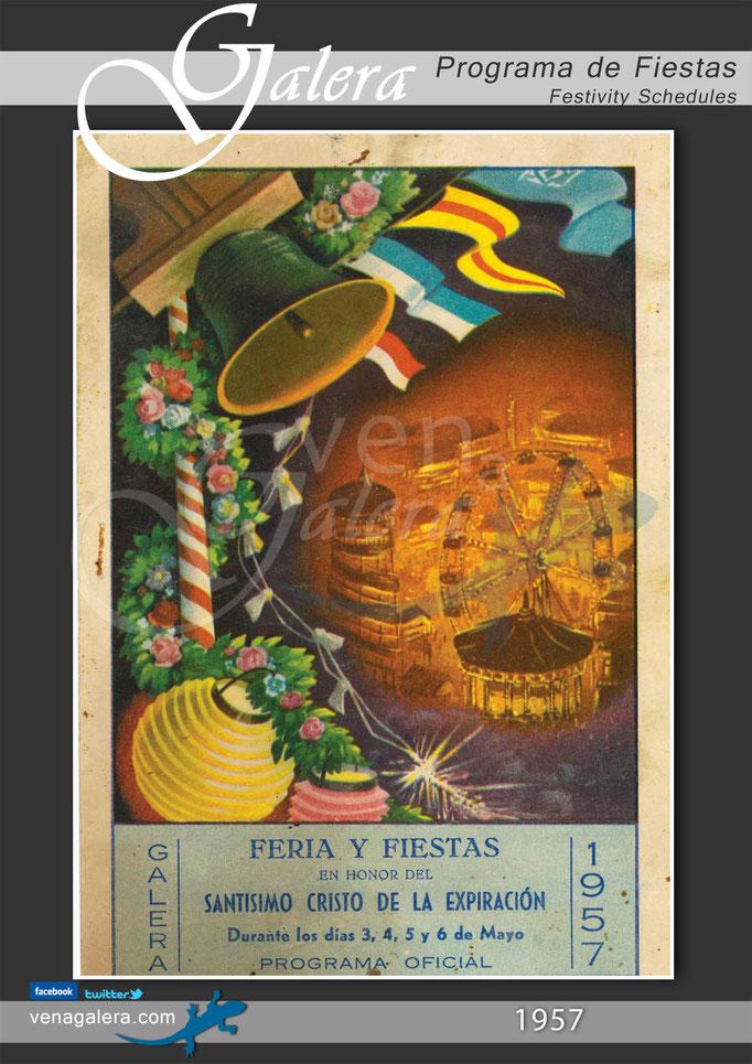 Programa Fiestas de Galera 1957