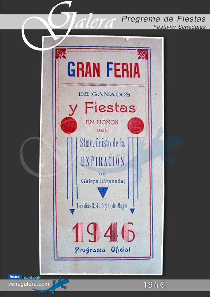 Programa Fiestas de Galera 1946