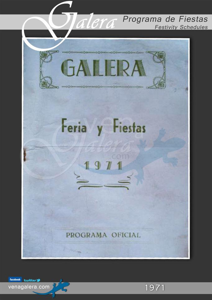 Programa Fiestas de Galera 1971