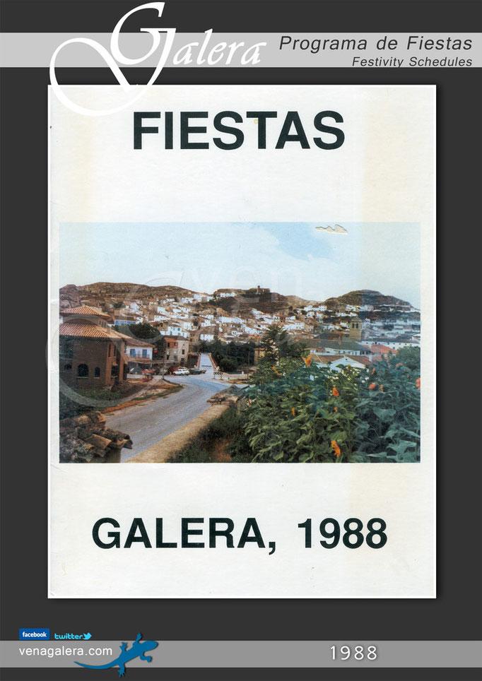 Programa Fiestas de Galera 1988