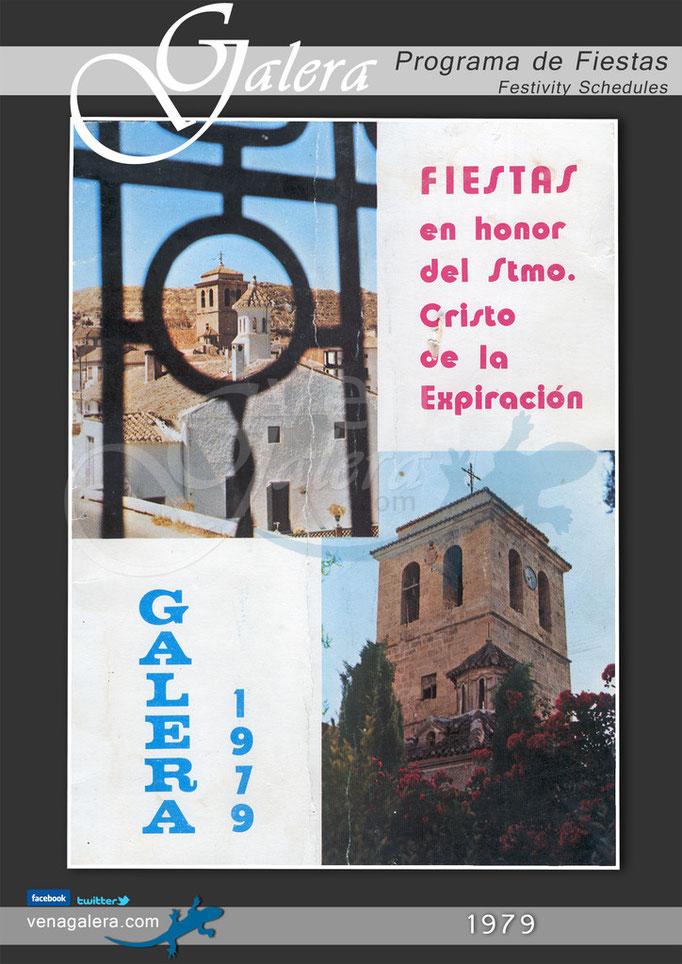 Programa Fiestas de Galera 1979
