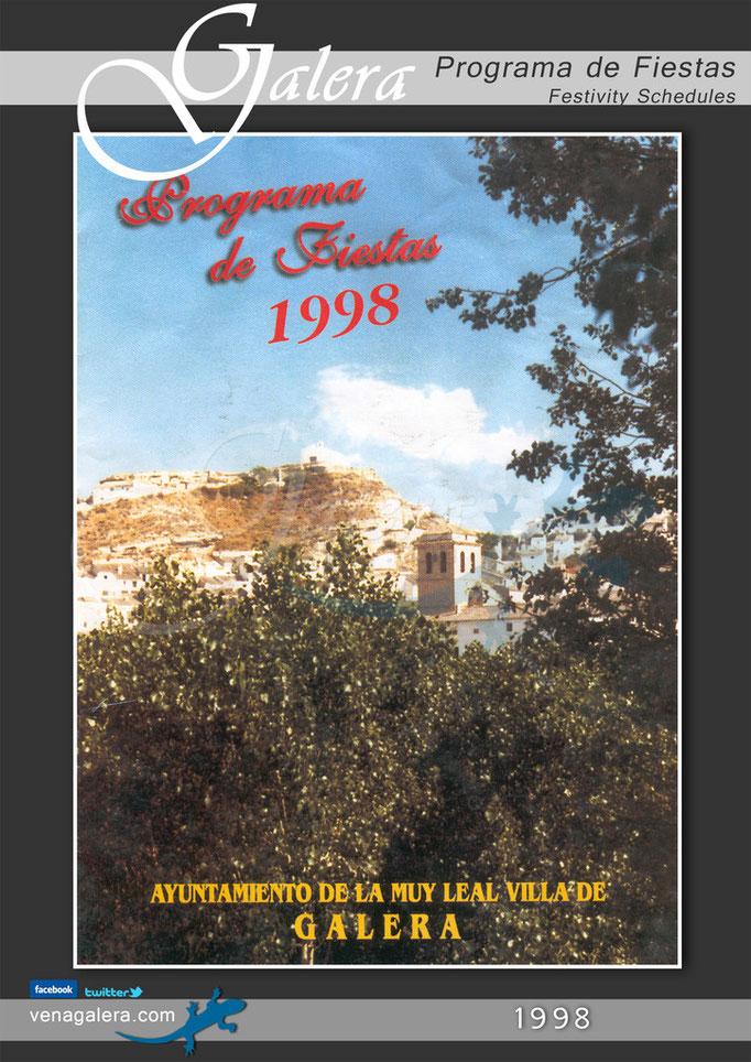 Programa Fiestas de Galera 1998