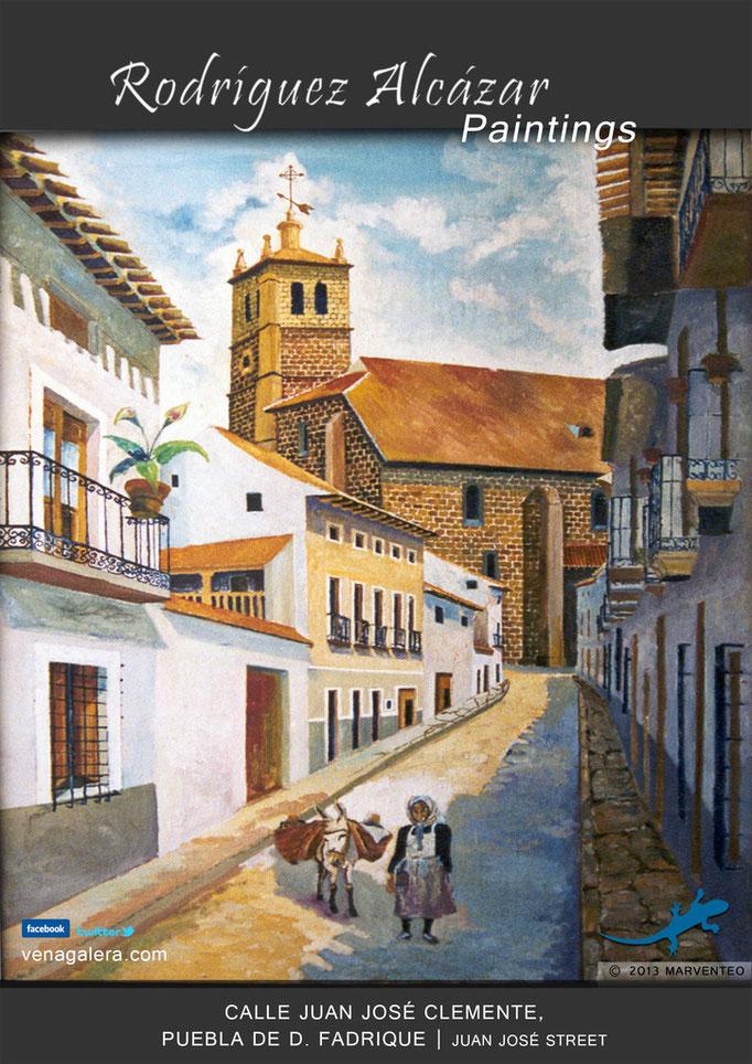Calle Juan José Clemente - Pintor Jesús Rodríguez Alcázar - Puebla de Don Fadrique
