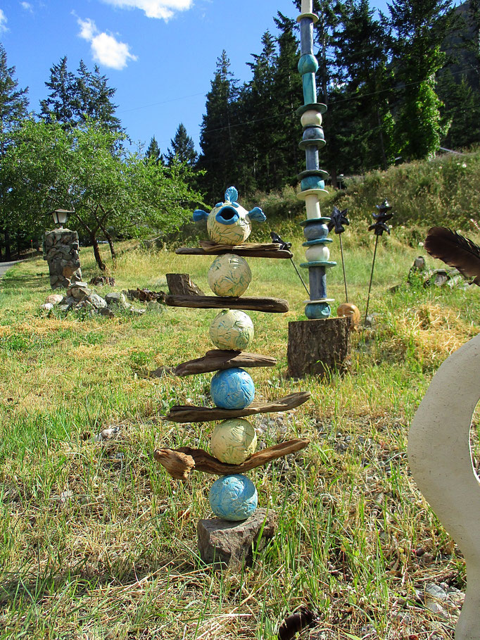 Fish Driftwood Totem