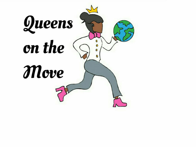 Logo created for Queens on the Move, a non-profit organization.
