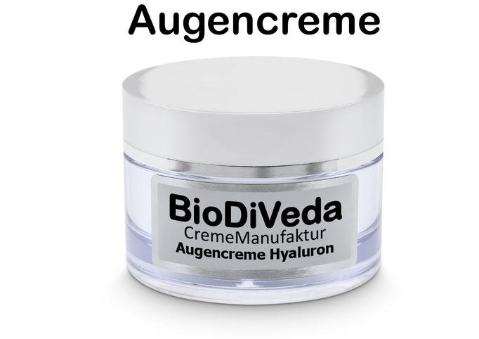 Bio DiVeda® Augencreme Hyaluron  Augenpartie mit Hyaluron und Bio-Botoxin versorgen