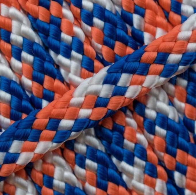 orange blau weiß