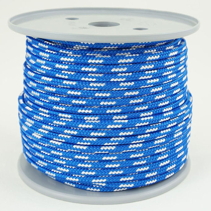blau mit weiß