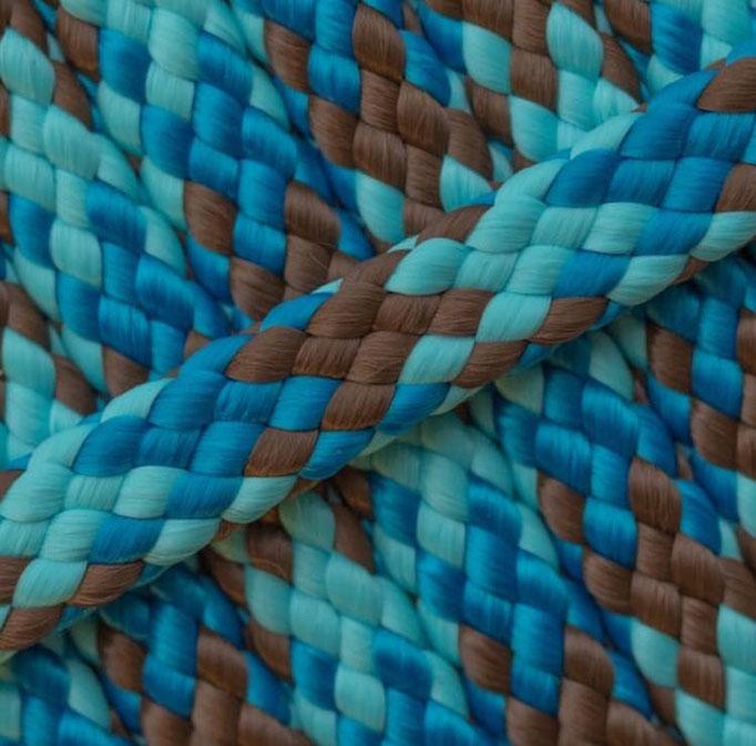 türkis blau braun