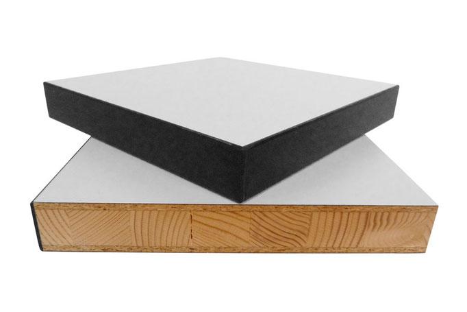 Vollholz-Tischplatte 30 mm mit 28 mm Spantischlerplatte