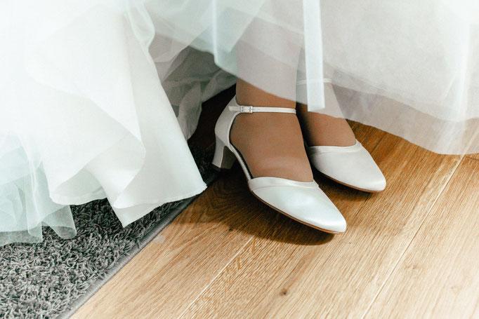Hochzeitsschuhe der Braut