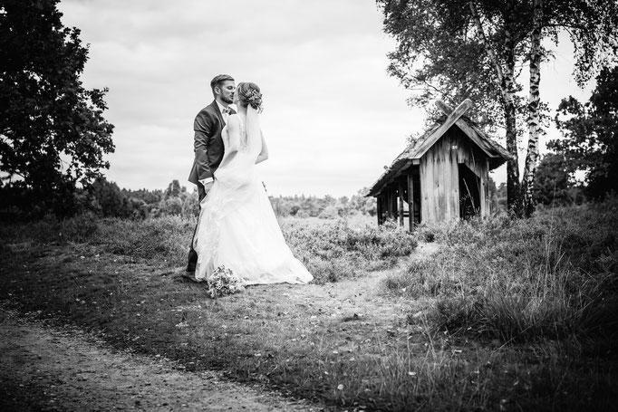 Hochzeitstanz in der Lüneburger Heide
