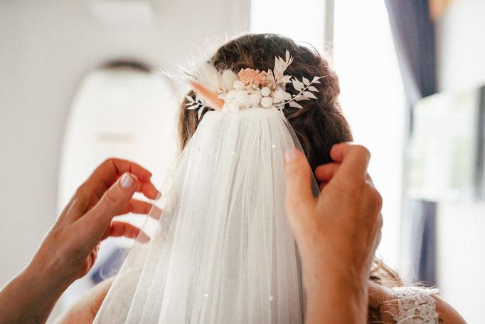 anlegen des Brautschleiers