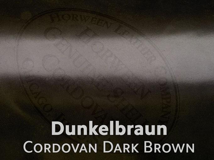 Cordovan (Pferdeleder) dunkelbraun