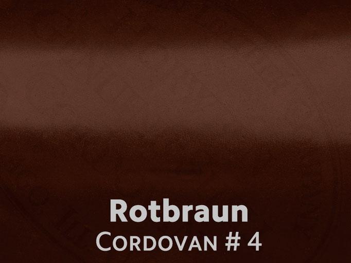 Cordovan (Pferdeleder) rotbraun #4