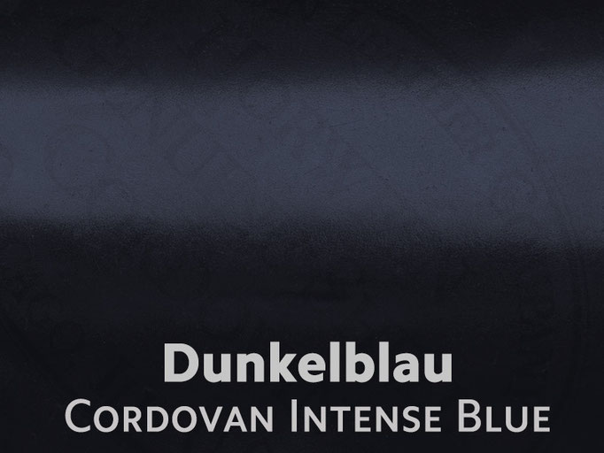 Cordovan (Pferdeleder) dunkelblau / oceanblue