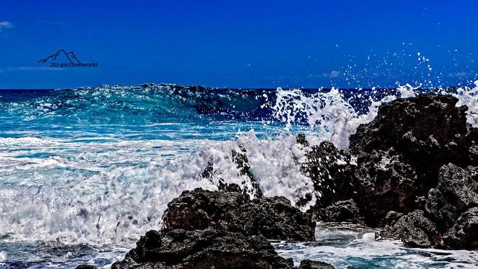 Bild: Wellenblocker, Oahu Ostküste