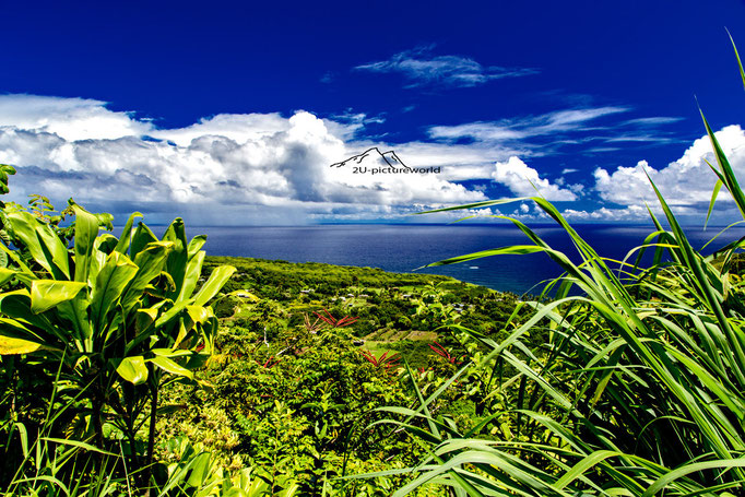 Bild: blauer Pazifik am Highway to Hana auf Maui