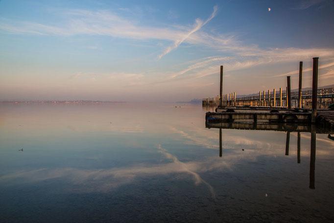 """Bild: Halbinsel Höri Hafenanlage, """"Farbabstufungen"""", www.2u-pictureworld.de"""