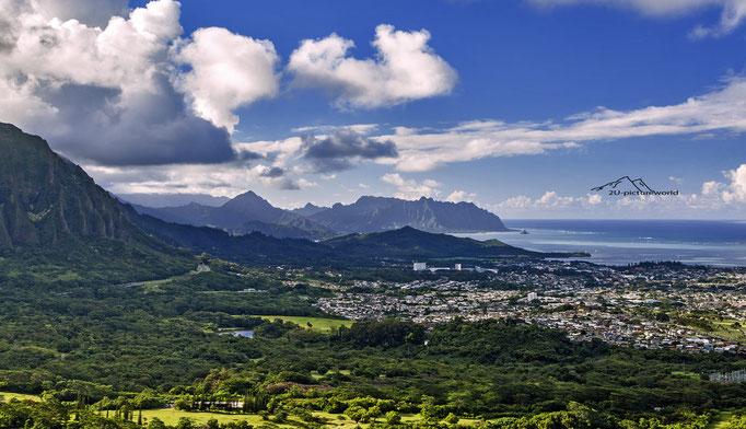 Bild: Oahu`s Pali Lookout