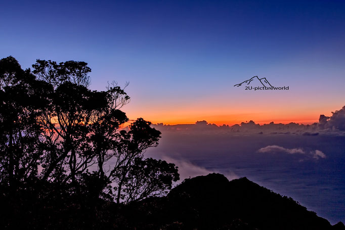 Bild: Sonnenuntergang im Kokee State Park auf Kauai