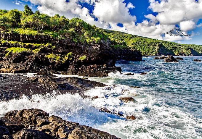 Bild: Spritzwasser, Oheo Gulch Maui